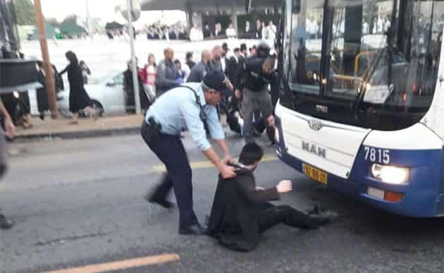 כל העדות שלך זה חרטא. הפגנות החרדים בירושלים. צילום: דוברות המשטרה