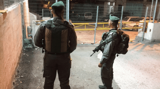 """לוחמי מג""""ב במחסום. למצולמים אין קשר לכתבה. צילום: דוברות המשטרה"""