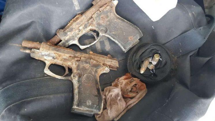 האקדחים שנמצאו