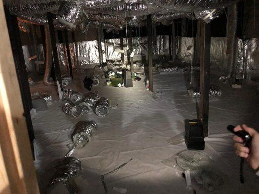 שוטרי משמר הגבול חשפו מעבדת ענק של 12 חדרים שהוכנו לגידול קנאביס