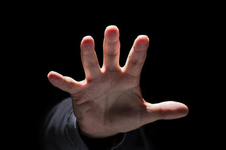 יד אילוסטרציה תקיפה בקשה לעזרה