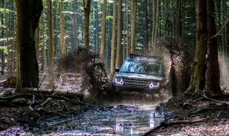 ג'יפ נוסע בנחל יער