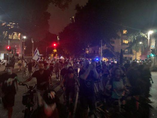 הפגנה בתל אביב 24 אוקטובר 2020