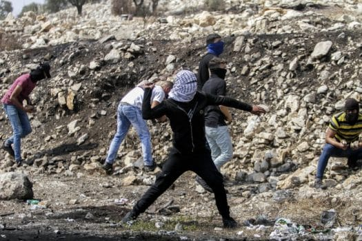 ידוי אבנים הפרות סדר שטחים פלסטינים