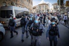 נוכחות משטרתית בהפרות הסדר בפורים