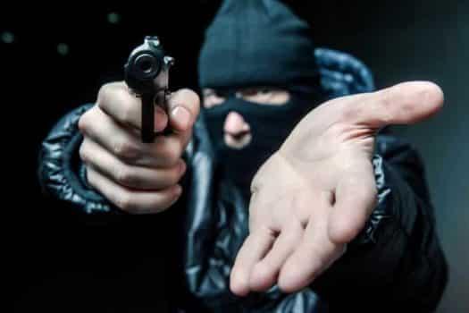 שוד איומים איום איים אקדח