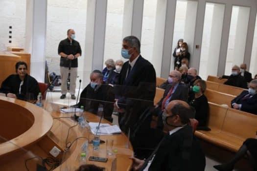 """עו""""ד חימי במהלך טקס הפרישה מהשופט מלצר. צילום: לשכת עוה""""ד."""